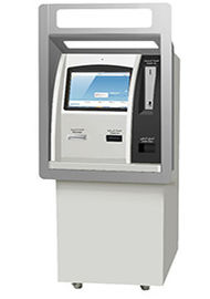 Cash Deposit Teller Banking Kiosk , Through Wall Kiosk With Card Reader